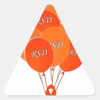 CRPS RSD hincha esperanza sobre la cinta de Pegatina Triangular