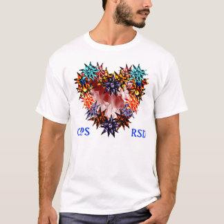 CRPS/RSD LaVa Blooms Heart of Flames Lady TEE