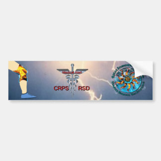 CRPS RSD Medical Alert & Lightning Asclepius Caduc Bumper Sticker