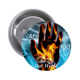 CRPS / RSD Our World Blazing Hand Button