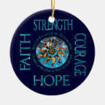 CRPS RSD Strength Courage Hope Faith Ornament