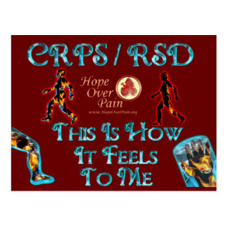 CRPS RSD This Is How It Feels to Me Post Cards