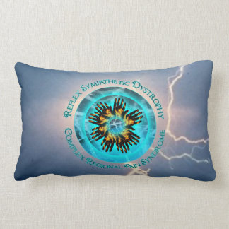 CRPS RSD This is Our World Blue Lightning Lumbar Pillow