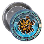 CRPS / RSD Turquoise Circlet 3 Inch Round Button