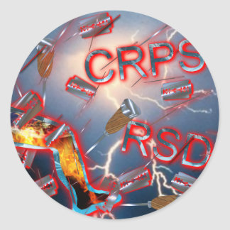 CRPS/RSD Weathering the Storm Classic Round Sticker