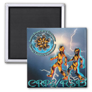 CRPS/RSD Weathering the Storm Turquoise 2 Inch Square Magnet