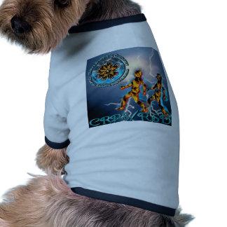 CRPS/RSD Weathering the Storm Turquoise Dog Tshirt
