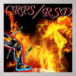 CRPS/RSD World 'a Fire  blazin' Pain &  Blades Pri Poster
