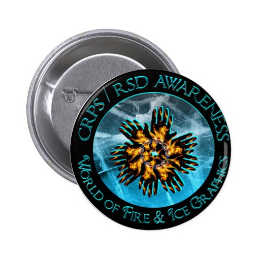 CRPS/RSD World of Fire & Ice Logo Pin