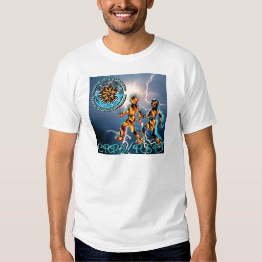 CRPS/tormenta azul T-Shir del relámpago y de la Camisas