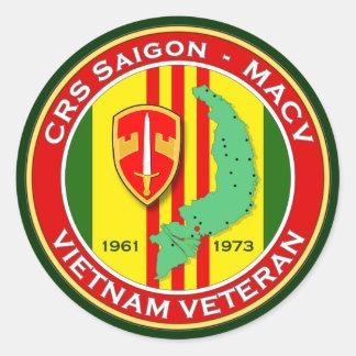 CRS Saigon 2 - ASA Vietnam Pegatinas Redondas