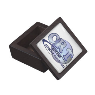CRT CERTIFIED RADIOLOGIC TECHNOLOGIST  BLUE LOGO JEWELRY BOX
