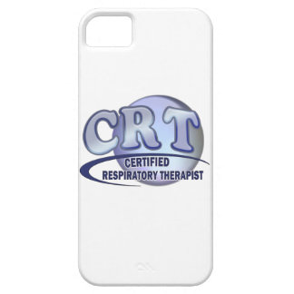 CRT CERTIFIED RESPIRATORY THERAPIST BLUE LOGO iPhone 5 COVER
