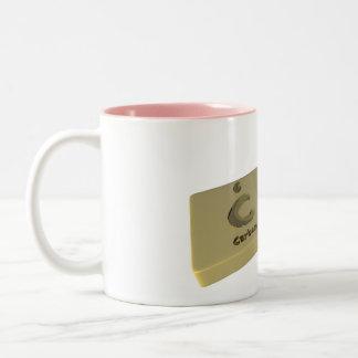 Cru as C Carbon and Ru Ruthenium Two-Tone Coffee Mug