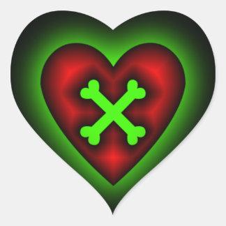 Cruce a su pegatina del corazón