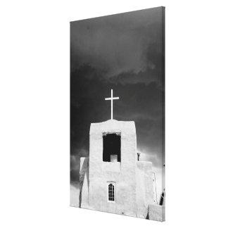 Cruce en la iglesia más vieja San Miguel Santa F Lienzo Envuelto Para Galerias