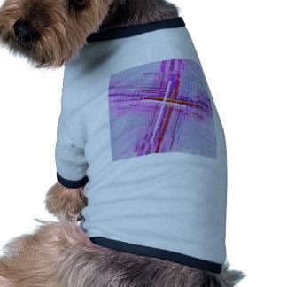 Cruce encima camiseta con mangas para perro