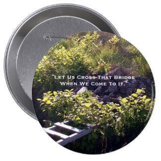 Cruce ese botón del puente pin redondo de 4 pulgadas