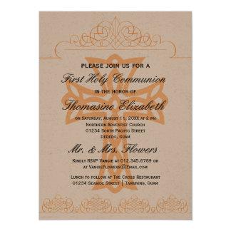"""Cruce las primeras invitaciones de la comunión invitación 5.5"""" x 7.5"""""""