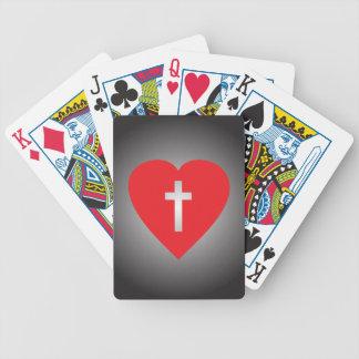 Cruce mi corazón barajas de cartas