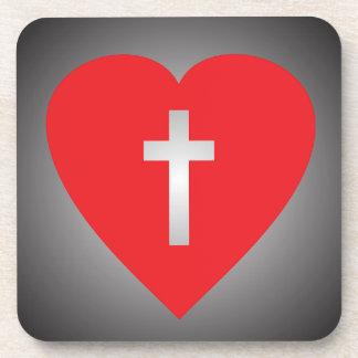 Cruce mi corazón posavaso