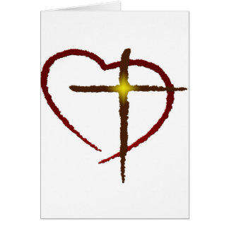 Cruce mi corazón tarjeta de felicitación
