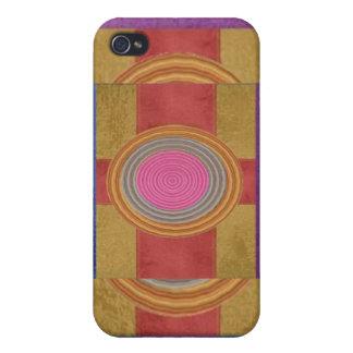 CRUCE su corazón - Art101 círculos simples de los  iPhone 4 Funda