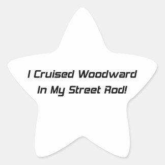 Crucé Woodward en mi calle Rod Pegatina En Forma De Estrella