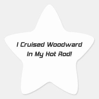 Crucé Woodward en mi coche de carreras Pegatina En Forma De Estrella