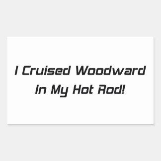 Crucé Woodward en mi coche de carreras Pegatina Rectangular