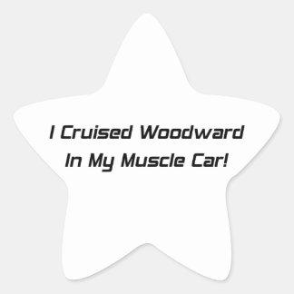 Crucé Woodward en mi coche del músculo Pegatina En Forma De Estrella