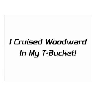 Crucé Woodward en mis regalos de Tbucket Woodward Postal