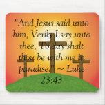 """cruce, """"y Jesús dijo a él, digo en verdad u… Tapetes De Ratones"""