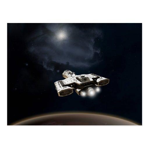Crucero de batalla profundo de la ficción de la ci tarjeta postal