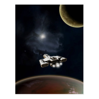 Crucero de batalla profundo de la ficción de la tarjetas postales