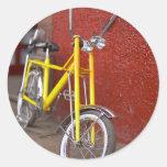 Crucero de ciclo 2 del plátano del ciclo de la pegatina redonda