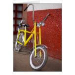 Crucero de ciclo 2 del plátano del ciclo de la tarjeta de felicitación