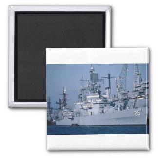 """Crucero de propulsión nuclear de USS Bainbridge"""",  Imán De Nevera"""