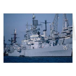 """Crucero de propulsión nuclear de USS Bainbridge"""",  Tarjeta"""