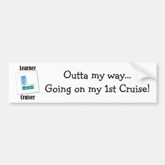 Crucero del principiante pegatina de parachoque
