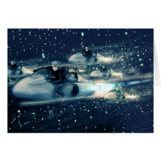 Crucero retro del espacio - la raza tarjetas
