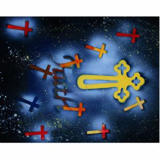 Cruces amarillas y anaranjadas spacepainting