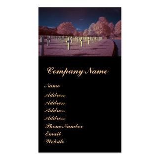 Cruces americanas infrarrojas del cementerio tarjetas de visita