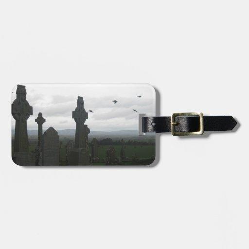Cruces célticas, roca de Cashel, Irlanda Etiquetas Para Equipaje