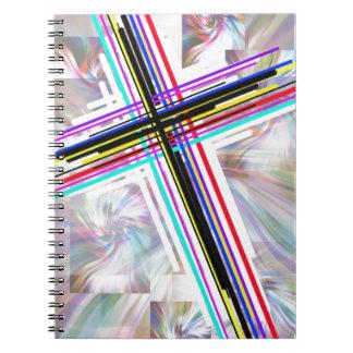 Cruces coloridas y los remolinos libretas espirales