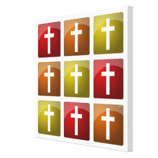 Cruces cristianas coloridas impresión en lona