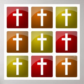 Cruces cristianas coloridas poster