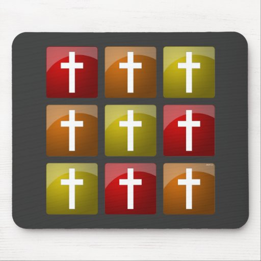 Cruces cristianas coloridas tapetes de ratones