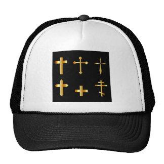 cruces cristianas de oro en diversos diseños gorras de camionero