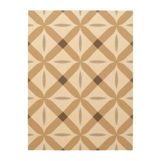 Cruces cuadradas beige y marrones cuadros de madera